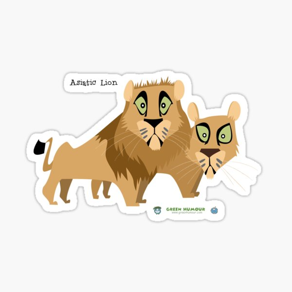 Asiatic Lion Sticker