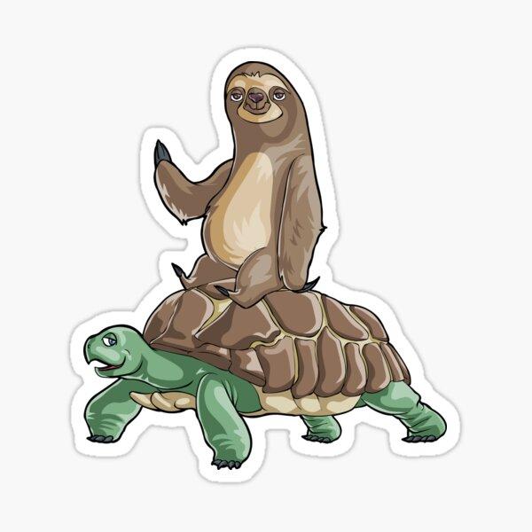 Tortoise and Sloth Sticker