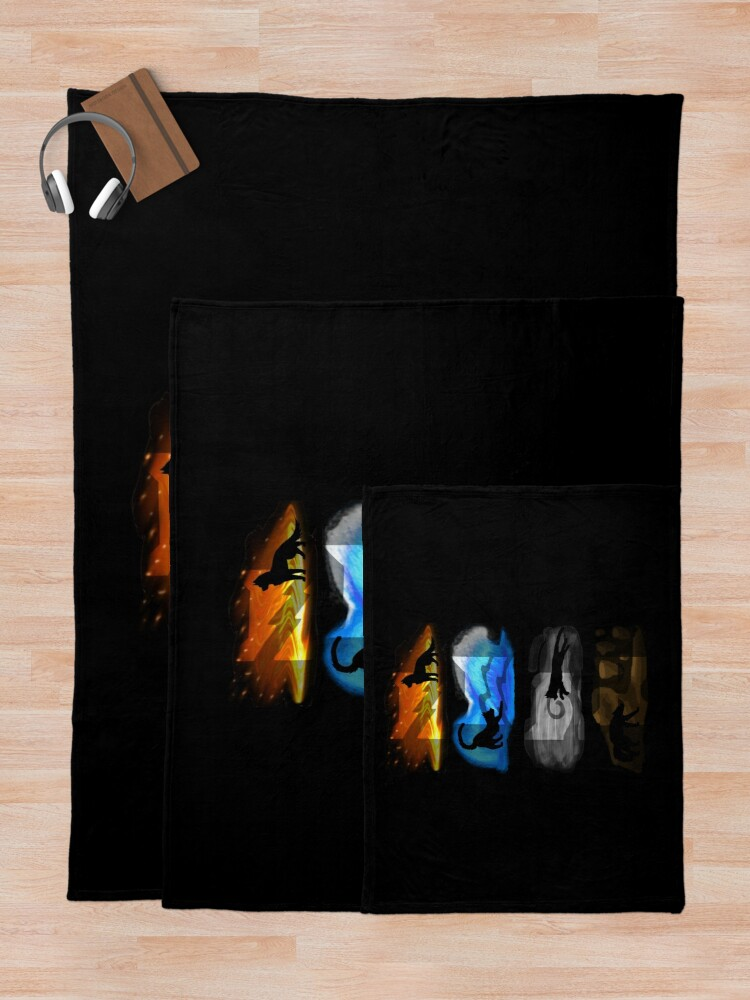 Alternate view of Warrior Cats: Four Elements, Four Clans Throw Blanket