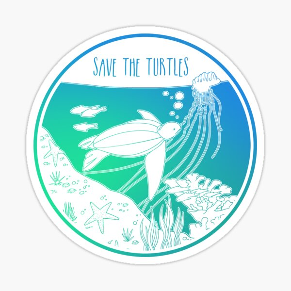 Save the Turtles! Sticker