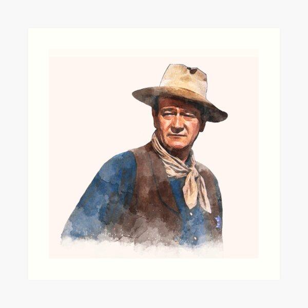 "John Wayne ""El duque"" - Acuarela Lámina artística"