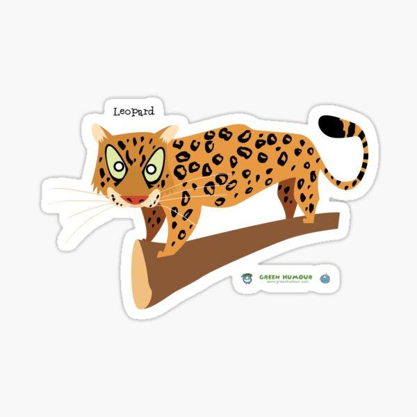 Leopard Caricature Sticker
