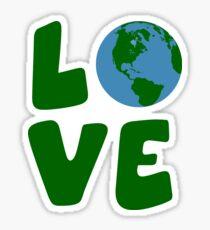 Pegatina Amo el Planeta de la Madre Tierra