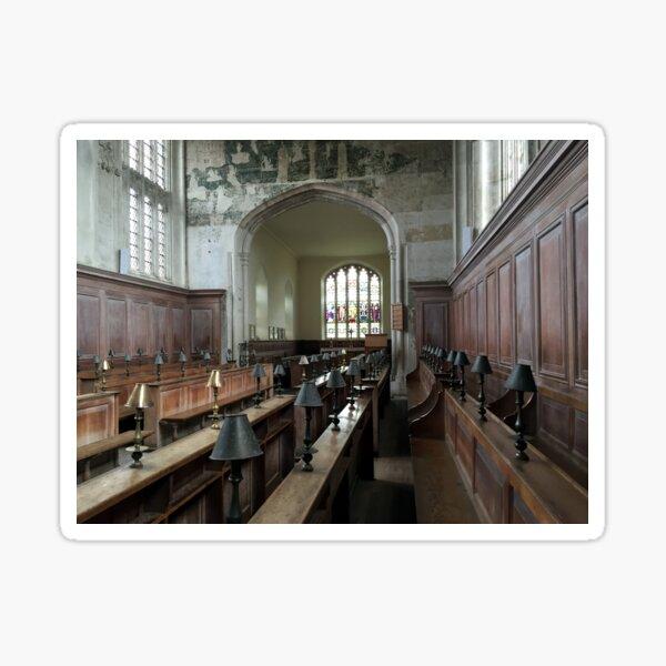 Guild Chapel Interior, Stratford Upon Avon, England. Sticker