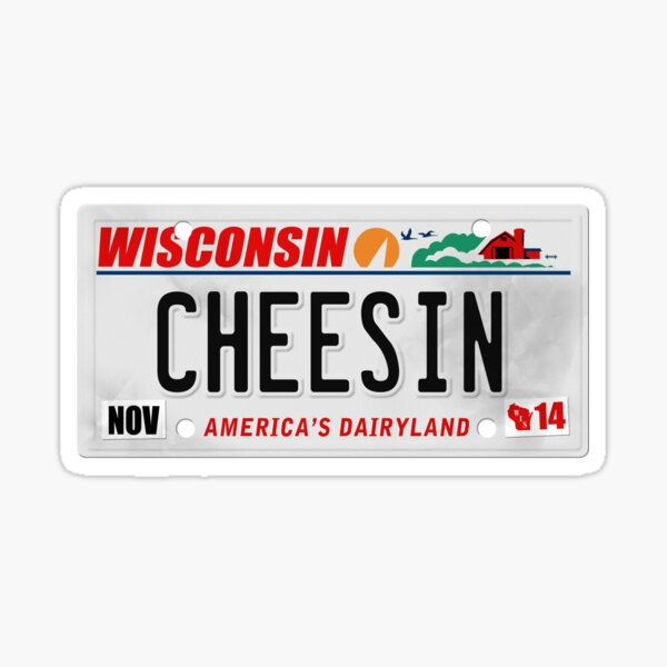 License Plate - CHEESIN Sticker