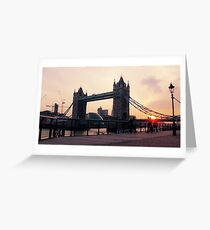 Tower Bridge at Sunset Greeting Card