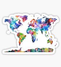Pegatina Mapa mundial del color del agua