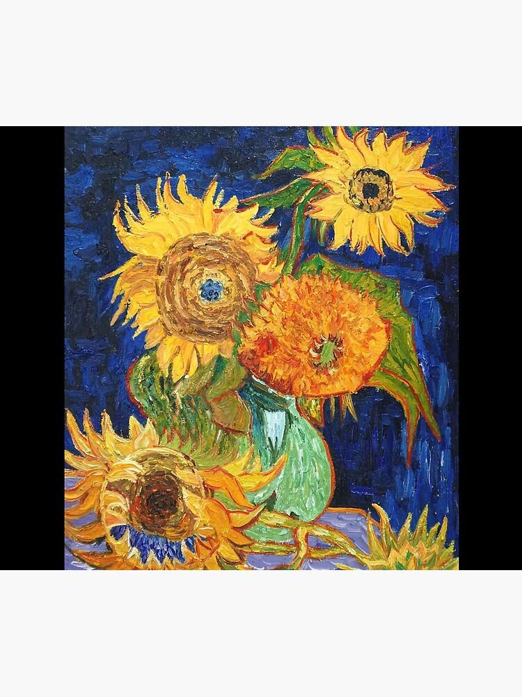 Van Gogh, Five Sunflowers 1888 Artwork Reproduction, Posters, Tshirts, Prints, Bags, Men, Women, Kids by clothorama