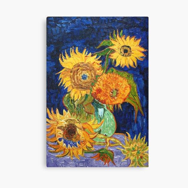 Van Gogh, Five Sunflowers 1888 Artwork Reproduction, Posters, Tshirts, Prints, Bags, Men, Women, Kids Canvas Print