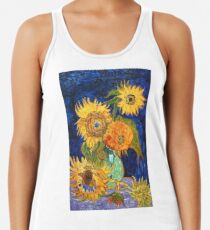 Van Gogh, Five Sunflowers 1888 Artwork Reproduction, Poster, T-Shirts, Drucke, Taschen, Männer, Frauen, Kinder Racerback Tank Top