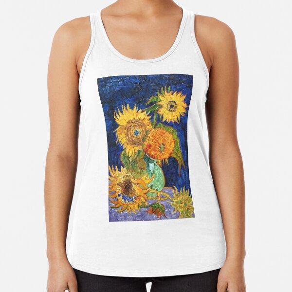 Van Gogh, Five Sunflowers 1888 Artwork Reproduction, Posters, Tshirts, Prints, Bags, Men, Women, Kids Racerback Tank Top