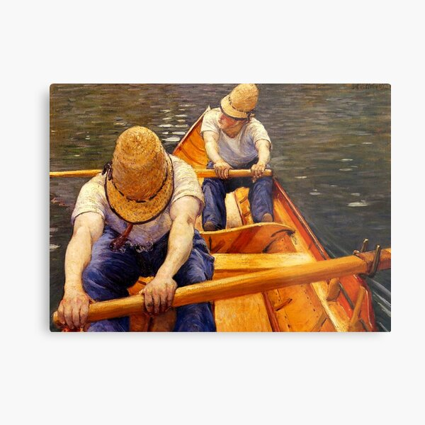 Caillebotte - Oarsmen (Boaters) Rowing Metal Print