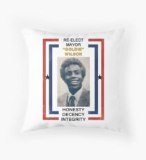 Re-elect Mayor Goldie Wilson Throw Pillow