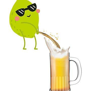 Lime Peeing In Beer by dealzillas