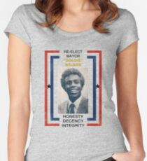 Re-elect Mayor Goldie Wilson Women's Fitted Scoop T-Shirt