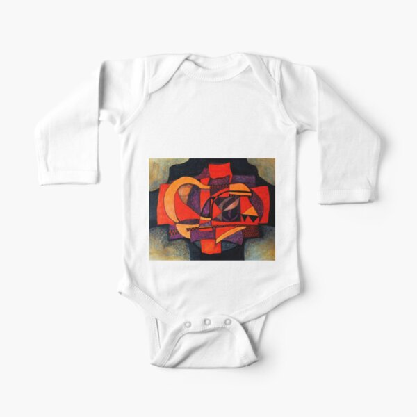 Abstraction 1 Long Sleeve Baby One-Piece