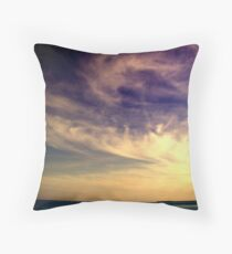 Sunset Over the Waters Throw Pillow