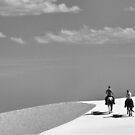 Horse and Rider at White Sands II by Mitchell Tillison