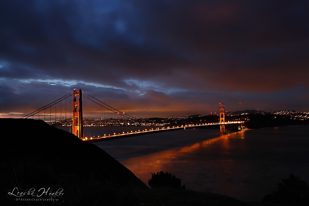 Good Morning Golden Gate by Leasha Hooker
