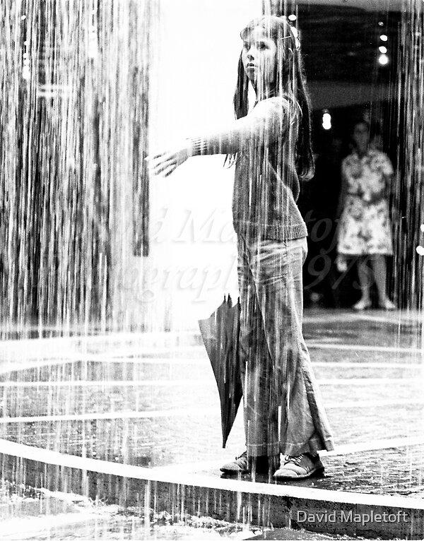 Girl in Fountain, MLC Centre, Sydney 1975 by David Mapletoft