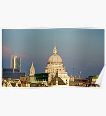 St Paul's on a blue sky Poster