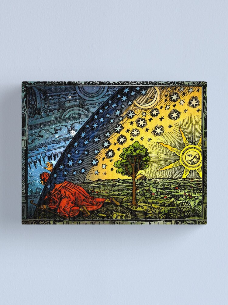 Alternate view of Flammarion Engraving Canvas Print