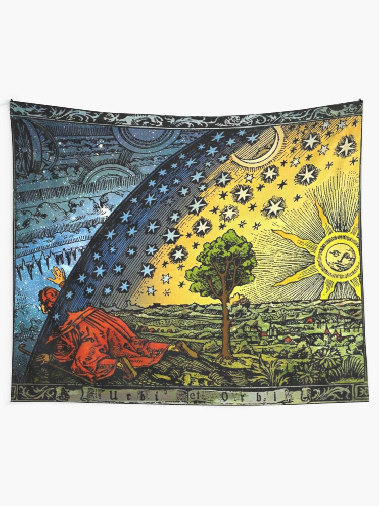 Alternate view of Flammarion Engraving Tapestry