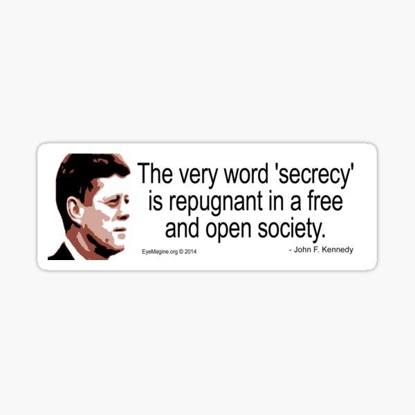 JFK on Secrecy Sticker