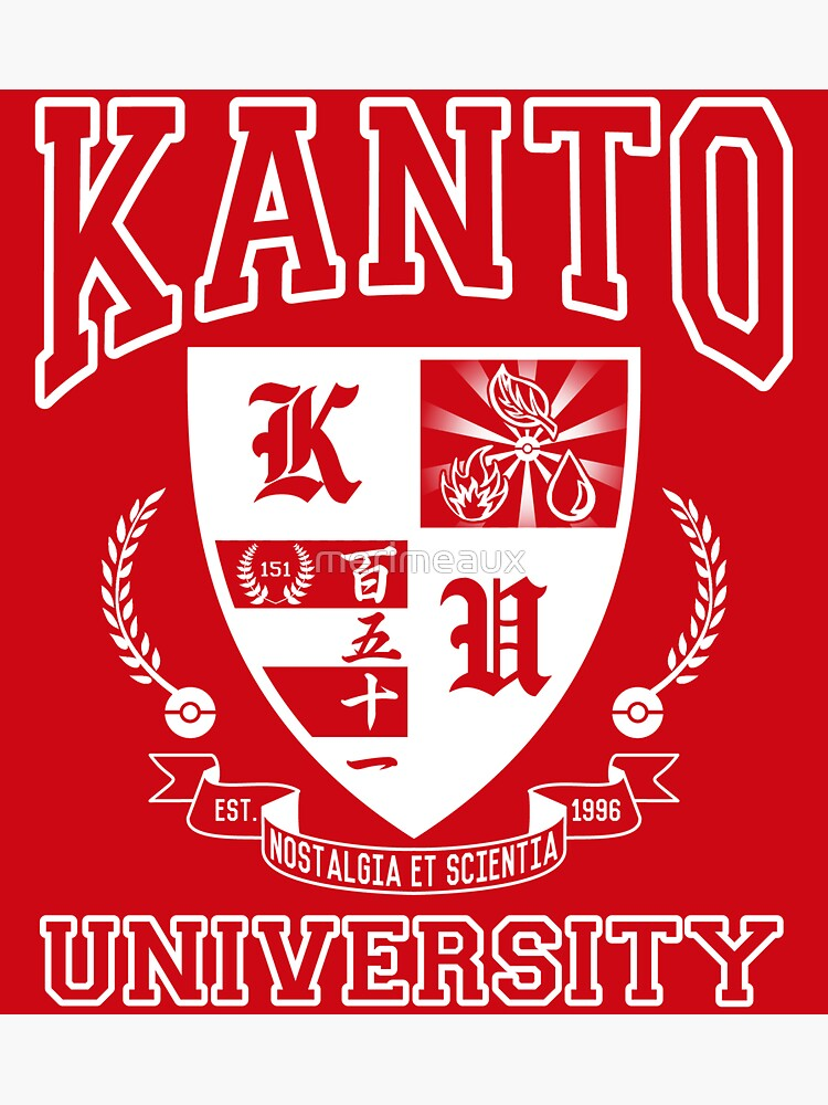 Sticker! Kanto University by merimeaux