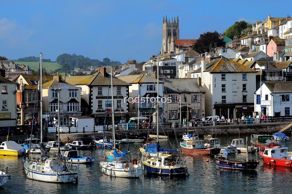 Brixham Inner-harbour, Devon by rodsfotos