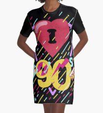 I love the nineties I Heart Pink Shrill Graphic T-Shirt Dress