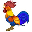 Pixel Art Rooster by Dominic Beaudoin