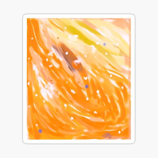 Orange Swirl 2 Sticker