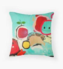 Newton and the apple Throw Pillow