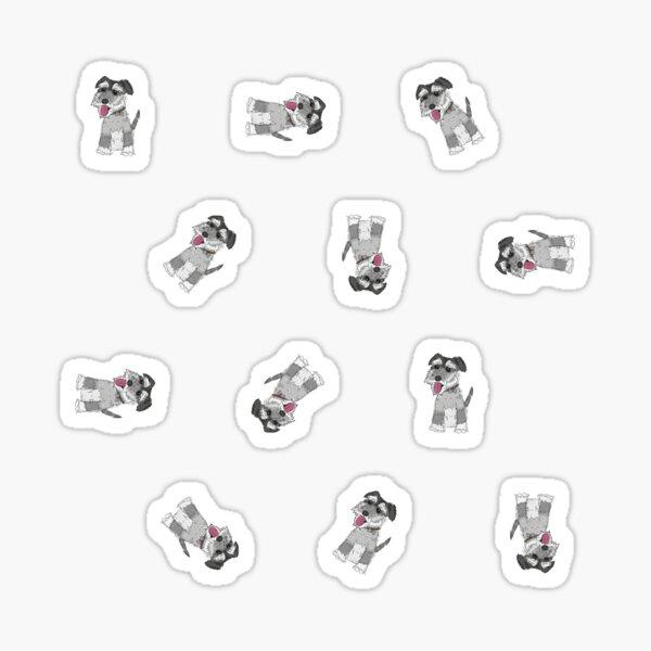 Mini Schnauzer Dog Pattern Sticker