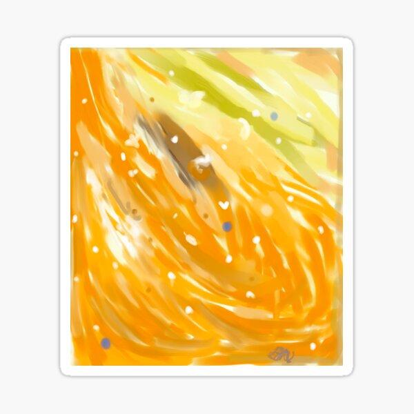 Orange Swirl 1 Sticker