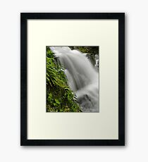 Waterfall Detail Framed Print