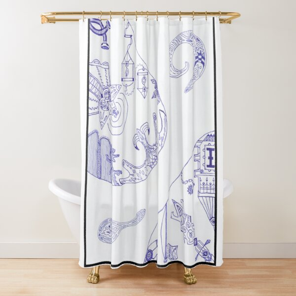 Merch #16 -- Segments of individuality. Shower Curtain