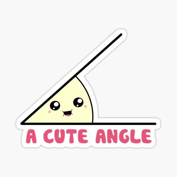 A Cute Acute Angle Sticker