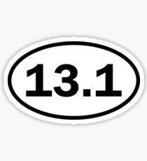 Half marathon - 13.1 - oval sticker and more Sticker