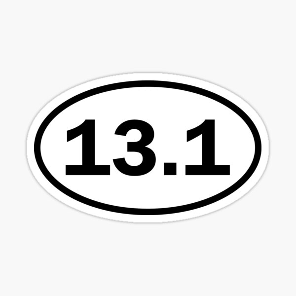 Half marathon - 13.1 - oval sticker and more Sticker