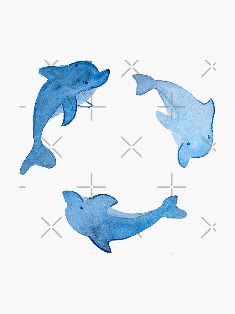 Dolphin Stickers and Pattern by annieparsons