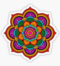 Colourful Indian Mandala Sticker