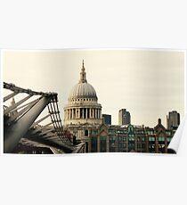 Millenium Bridge and St Paul's Poster