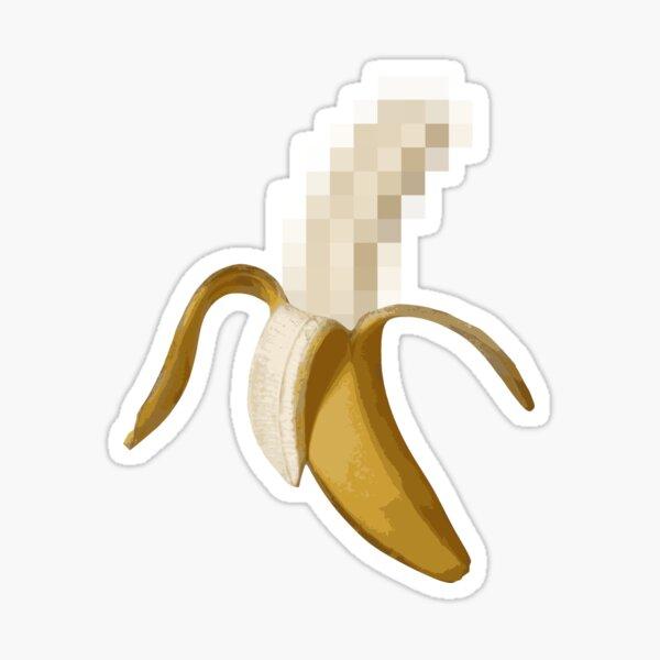 Dirty Censored Peeled Banana Sticker