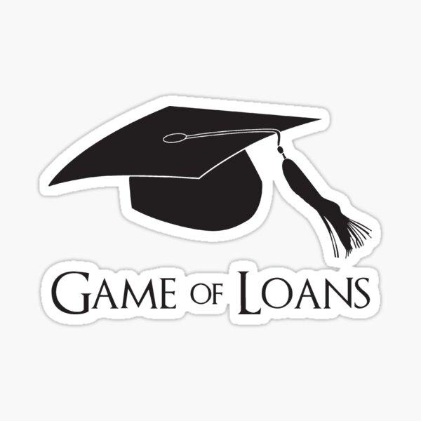 Game of College Graduation Loans Sticker