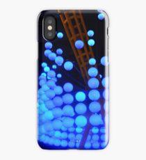 Blue Bubble Lights iPhone Case
