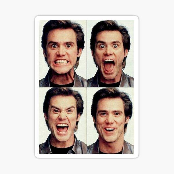 Jim Carrey faces in color Sticker