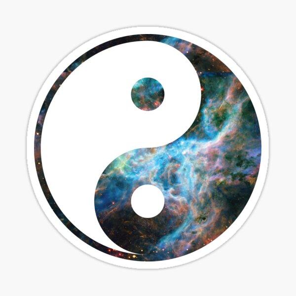 Tarantula Nebula | Yin and Yang Symbol Sticker