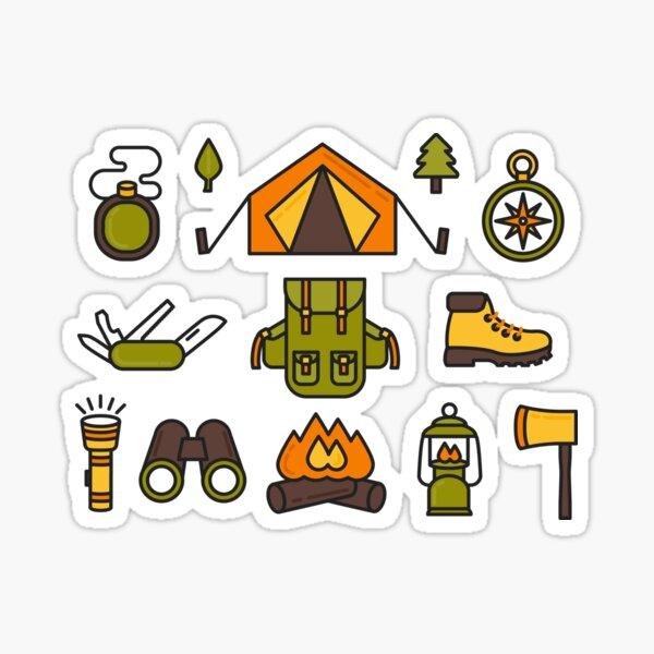 Camping Pattern Sticker